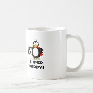 Super Daddy Penguin Classic White Coffee Mug
