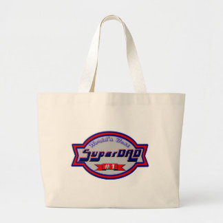 Super Dads for the Family Large Tote Bag