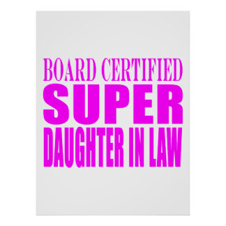 Super Daughters in Law Pink Super Daughter in Law Poster