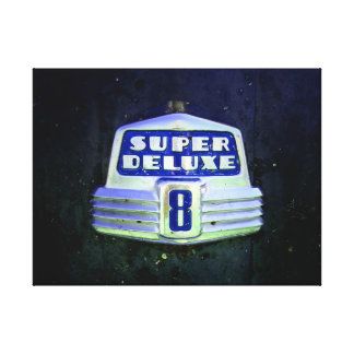 Super Deluxe in Blue Canvas Print
