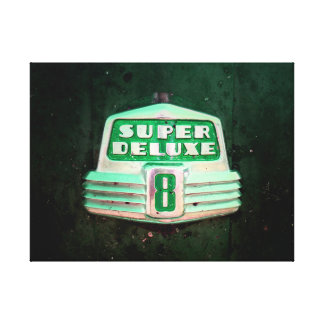 Super Deluxe in Green Canvas Print