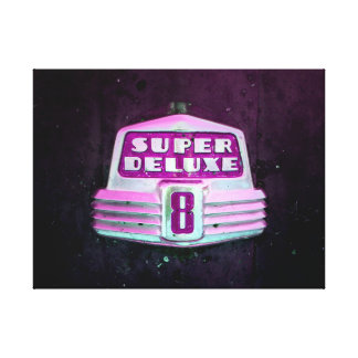 Super Deluxe in Pink Canvas Print