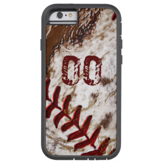 Super Dirty Baseball iPhone 6 Cases JERSEY NUMBER Tough Xtreme iPhone 6 Case