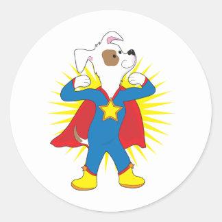 Super Dog Classic Round Sticker