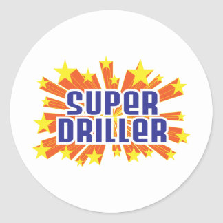 Super Driller Classic Round Sticker