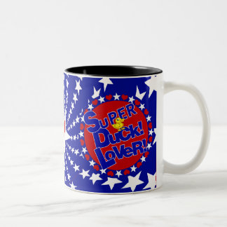 SUPER DUCK LOVER PATRIOTIC Two-Tone COFFEE MUG