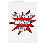 Super Duper Awesome Aunt Greeting Cards