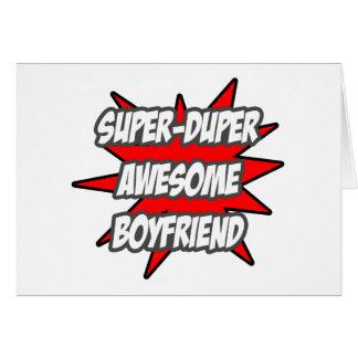 Super Duper Awesome Boyfriend Greeting Card