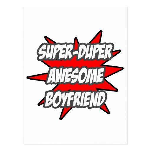 Super Duper Awesome Boyfriend Postcard