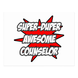Super Duper Awesome Counselor Post Card