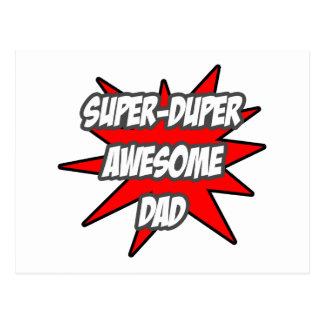 Super Duper Awesome Dad Postcard