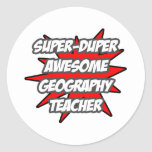 Super Duper Awesome Geography Teacher Sticker
