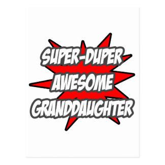Super Duper Awesome Granddaughter Postcard