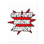 Super Duper Awesome Grandson Postcard