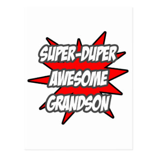 Super Duper Awesome Grandson Postcard