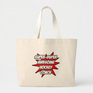 Super Duper Awesome Hockey Coach Canvas Bag