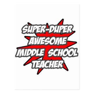Super Duper Awesome Middle School Teacher Postcard