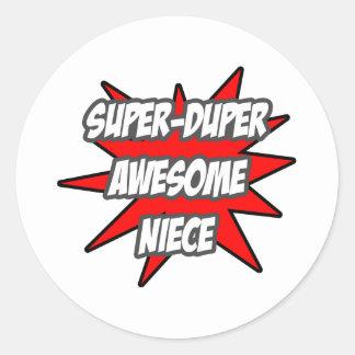 Super Duper Awesome Niece Classic Round Sticker