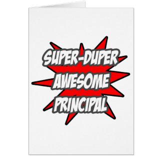 Super Duper Awesome Principal Greeting Card