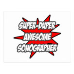 Super Duper Awesome Sonographer Postcard