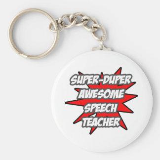 Super Duper Awesome Speech Teacher Basic Round Button Keychain