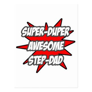 Super Duper Awesome Step-Dad Postcard