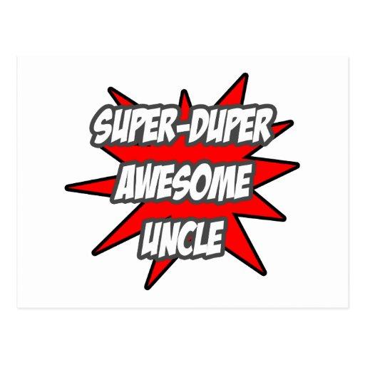Super Duper Awesome Uncle Postcard