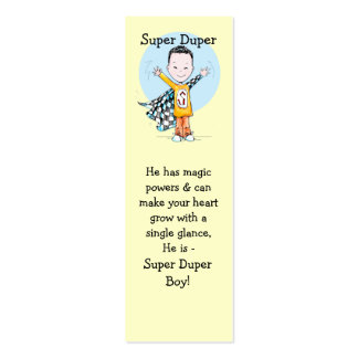 Super Duper Boy Bookmark Double-Sided Mini Business Cards (Pack Of 20)