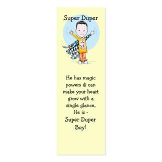 Super Duper Boy Bookmark Business Card Template