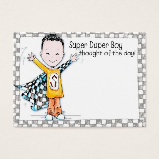 Super Duper Boy Lunchbox Love Note - Business Card