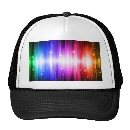 super duper fun colorful rainbow glam glitz trucker hat