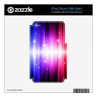 super duper fun colorful rainbow glam glitz iPod touch 4G decal