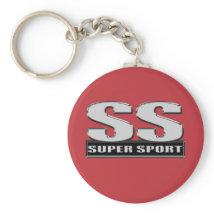 super duper sport red keychain