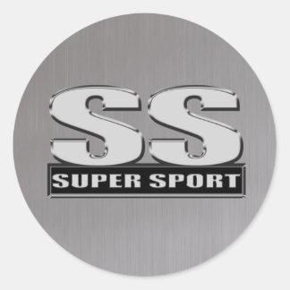 super duper sport steel gray sticker