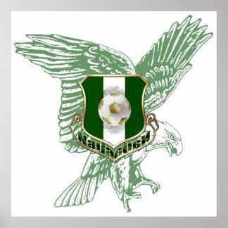 Super Eagles faded Eagle Naija soccer gifts Posters