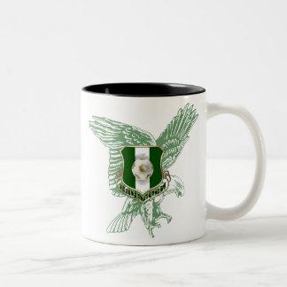 Super Eagles faded Eagle Naija soccer gifts Two-Tone Coffee Mug