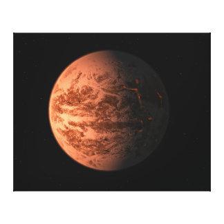 Super Earth Gliese 876 D Terrestrial Planet Gallery Wrap Canvas