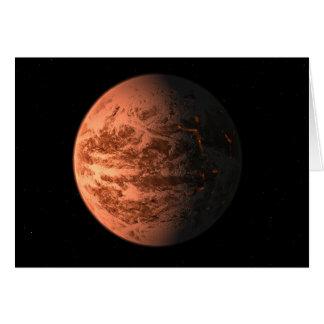 Super Earth Gliese 876 D Terrestrial Planet Card