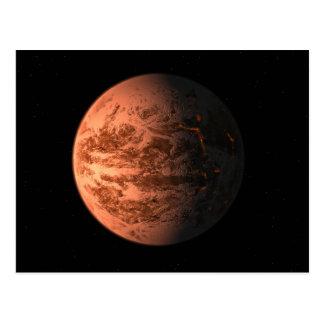 Super Earth Gliese 876 D Terrestrial Planet Postcard