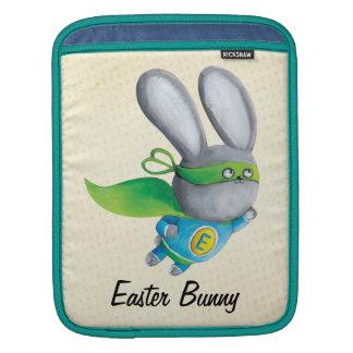 Super Easter Bunny - custom txt - iPad Sleeves