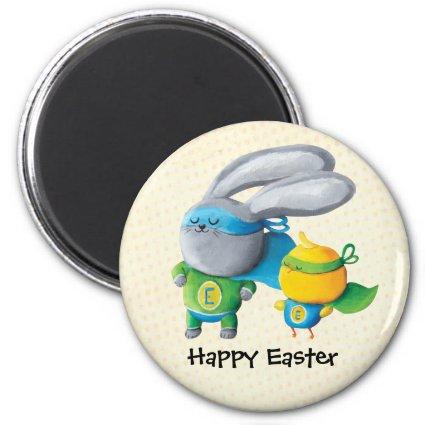 Super Easter Team - custom txt - Fridge Magnets