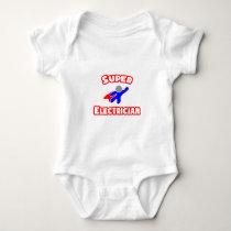 Super Electrician Baby Bodysuit