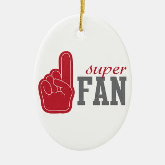 Super Fan Ceramic Ornament