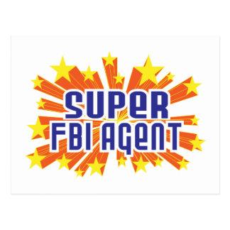 Super FBI Agent Postcard