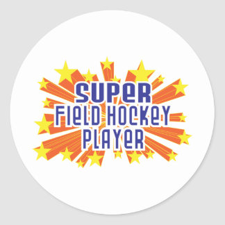 Super Field Hockey Player Stickers