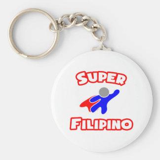 Super Filipino Basic Round Button Keychain