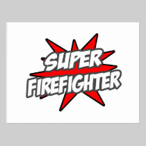 Super Firefighter Postcard