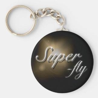 """""""Super-fly"""" slogan keyring"""