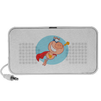 super flying pig hero cartoon iPod speaker