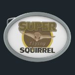 "Super Flying Squirrel Oval Belt Buckle<br><div class=""desc"">Flying Squirrel.</div>"